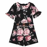 Firetrap Floral Playsuit Junior Girls  Детски поли и рокли
