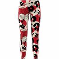 Adidas Future Icons Sport Cotton 3-Stripes Wild Shapes Al White/Red/Black Детски клинове
