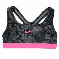 Nike Pro Aop Bra Junior Girls Grey/Pink Дамски спортни сутиени