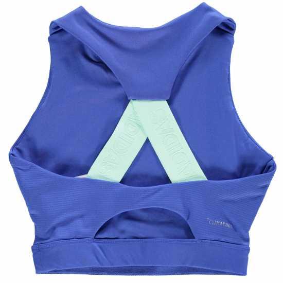 Adidas Training Sports Bra Junior Girls Blue/Mint Дамски спортни сутиени