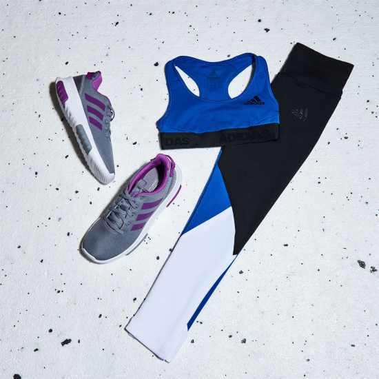 Adidas Ask Sports Bra Junior Girls Blue/Black Дамски спортни сутиени