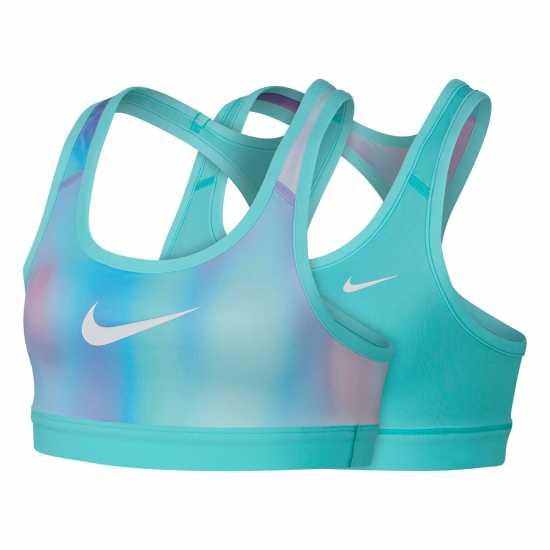 Nike Unicorn Reversible Sports Bra Junior Girls Green Дамски спортни сутиени
