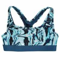 Nike Pro All Over Print Bra Junior Girls Blue Дамски спортни сутиени