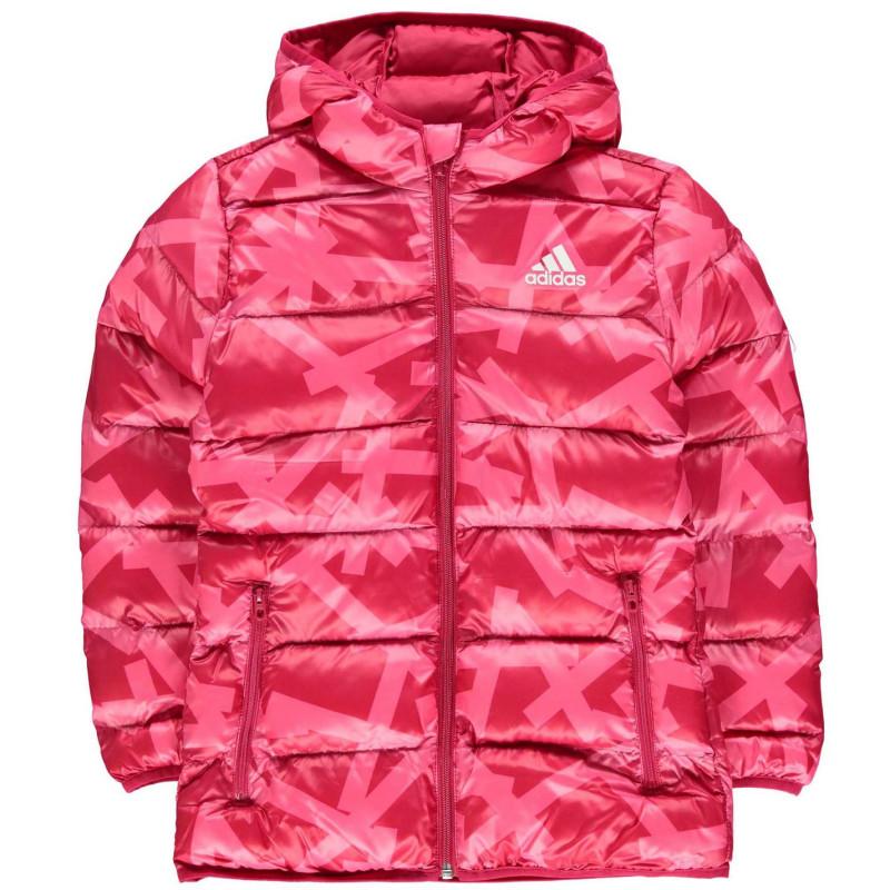 94991f986ae Adidas Яке Момичета Back To School Padded Bubble Jacket Junior Girls  Pink-Patern Детски якета