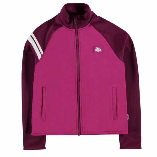 Lonsdale Яке Момичета 2 Stripe Track Jacket Junior Girls Pink Детски якета и палта