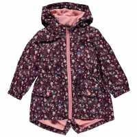 Crafted Rain Mac Child Girls Wine Детски якета и палта