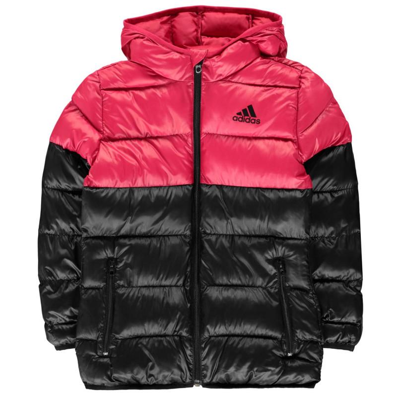 2871d22250a Adidas Яке Момичета Padded Jacket Junior Girls Black/Pink Детски якета и  палта