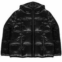 Usa Pro Яке Момичета Quilted Jacket Junior Girls Black Wet Детски якета и палта