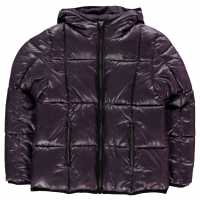 Usa Pro Яке Момичета Quilted Jacket Junior Girls Purple Wet Детски якета и палта