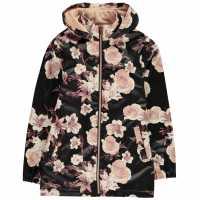 Firetrap Pu Rain Mac Girls Midnight Floral Детски якета и палта