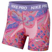 Nike Къси Панталони Момичета Aop Shorts Junior Girls Pink/Purple Детски къси панталони