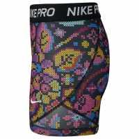 Nike Къси Панталони Момичета Aop Shorts Junior Girls Black/White Детски къси панталони