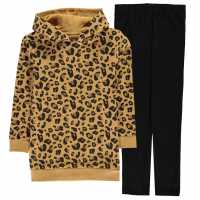 Crafted Fleece Tracksuit Leopard Детски полар