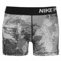 Nike Къси Панталони Момичета Pro Aop Shorts Junior Girls Black/Grey Детски къси панталони