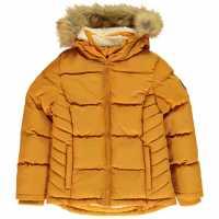 Soulcal Детско Пухено Яке 2 Zip Bubble Jacket Junior Mustard Детски якета и палта
