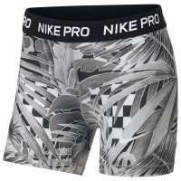 Nike Шорти За Момичета Pro Shorts Girls Grey/Black Детски къси панталони