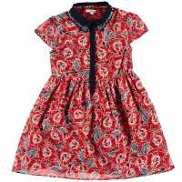 French Connection Флорална Рокля Floral Dress Riot Red Детски поли и рокли