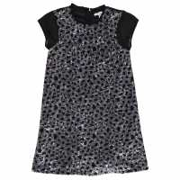 French Connection Leo Aop Dress Black Детски поли и рокли