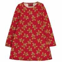 Star Детска Рокля Christmas Printed Dress Junior Girls G/Bread AOP Детски поли и рокли