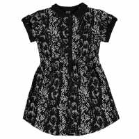 French Connection All Over Print Dress Black Детски поли и рокли