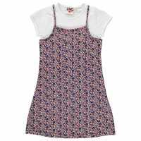 Lee Cooper Cami Tee Dress Junior Girls AOP Ditsy Детски поли и рокли