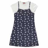 Lee Cooper Cami Tee Dress Junior Girls AOP Butterfly Детски поли и рокли