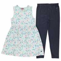 Lee Cooper Dress And Leggings Set Junior Girls AOP Floral Детски поли и рокли
