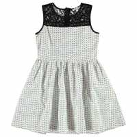 French Connection Aop Dress White/Black Детски поли и рокли