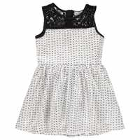 French Connection Aop Dress White/Black Детски поли и рокли