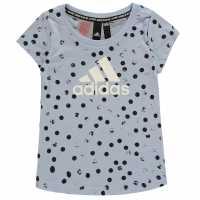 Adidas Тениска Graphic T Shirt Girls Glow Blue/White