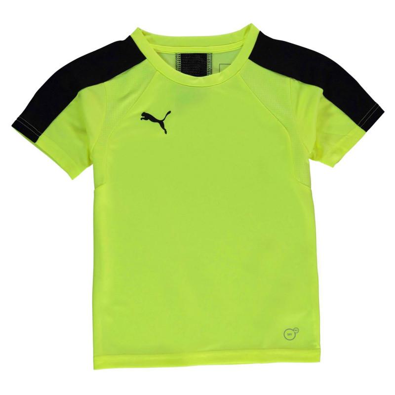 9ba75926a8b Puma Тениска Момчета Evo Training T Shirt Junior Boys Yellow/Black Детски  тениски и фланелки