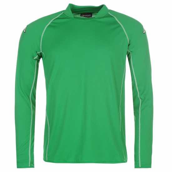 Kappa Мъжка Футболна Фланелка Masa Long Sleeve Football Tee Mens Green Мъжки тениски и фланелки