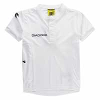 Diadora Тениска Момчета Fresno T Shirt Junior Boys White/Black Детски основен слой дрехи