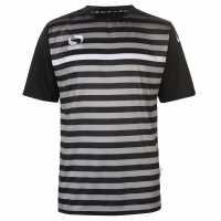 Sondico Мъжка Тениска S Pro Rio T Shirt Mens Black/Grey/Whit Мъжки тениски и фланелки