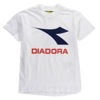 Diadora Тениска Auckland Kids T Shirt White Детски основен слой дрехи