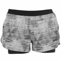 Slazenger Дамски Спортни Шорти Slam 2 In 1 Tennis Shorts Ladies