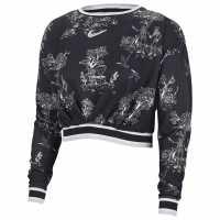 Nike Дамска Блуза Dry Long Sleeve T Shirt Ladies Black/Purple Дамски тениски и фланелки