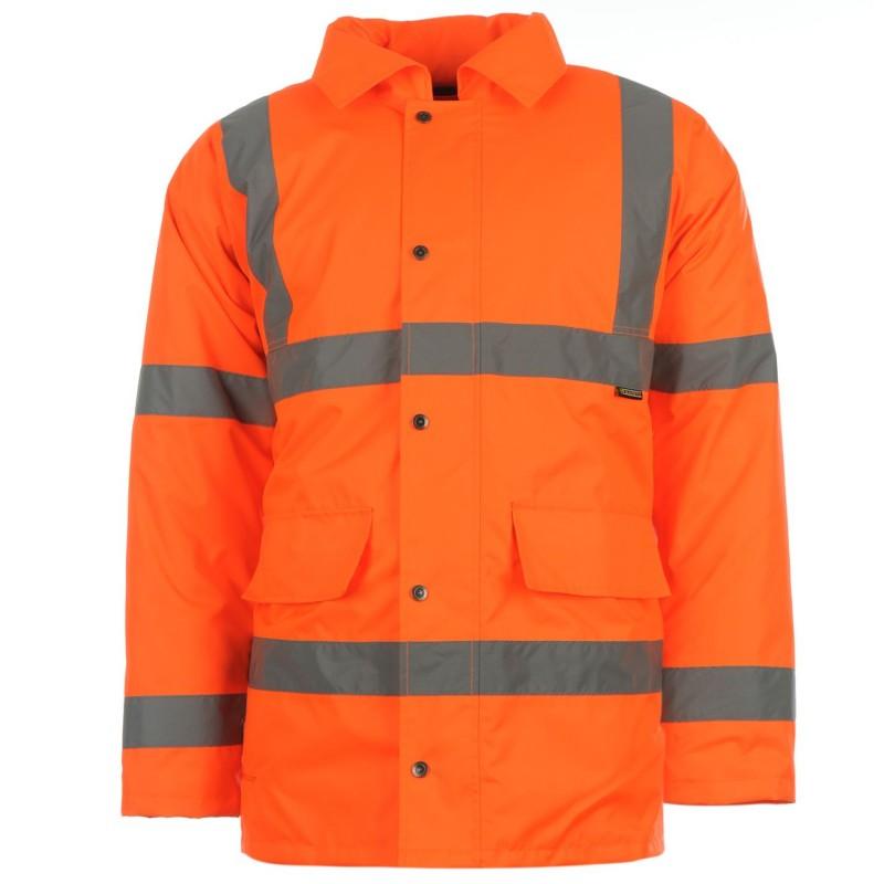 7cbeeeb1ec2 Dunlop Отражателна Мъжка Парка Hi Vis Parka Mens Orange Мъжки якета и палта