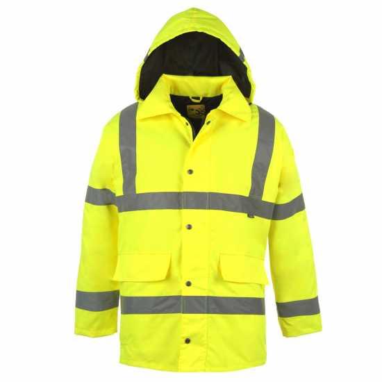 f3d50a5c1fb Dunlop Отражателна Мъжка Парка Hi Vis Parka Mens Yellow Мъжки якета и палта