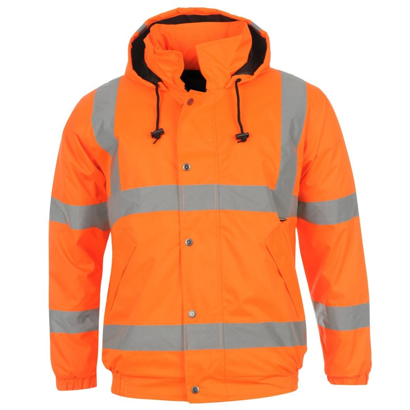 7bd95cb84b9 Dunlop Мъжко Яке Бомбър Hi Vis Bomber Jacket Mens Orange Мъжки якета и палта