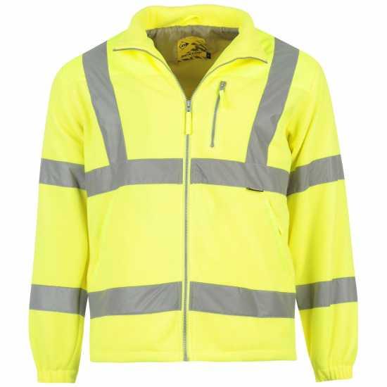 853b31ba3ca Dunlop Мъжко Яке Полар Hi Vis Fleece Jacket Mens Yellow Мъжки полар