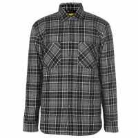 Мъжка Риза Dunlop Flannel Shirt Mens Black/Grey Мъжко облекло за едри хора