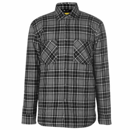 Dunlop Мъжка Риза Flannel Shirt Mens Black/Grey Мъжко облекло за едри хора