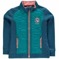 Requisite Ватирано Яке Junior Lightweight Padded Jacket Teal/Pink Детски якета и палта