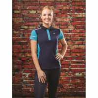 Dublin Madison Short Sleeve Polo Navy Дамски тениски с яка