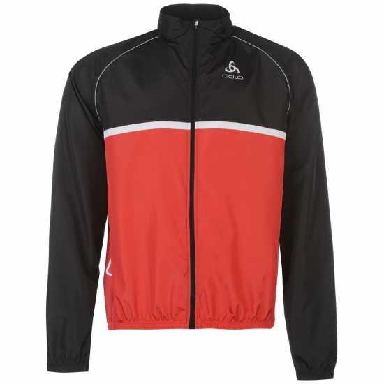 956dcdab385 Odlo Колоездачно Яке Cycling Jacket Black/Red Мъжки якета и палта