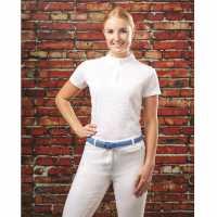 Dublin Cortez Competition Top White Дамски тениски с яка