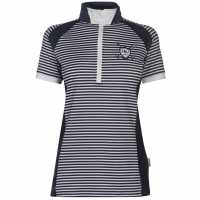 Horseware Eda Sporty Tech Polo Ladies Navy Pinstripe Дамски тениски с яка