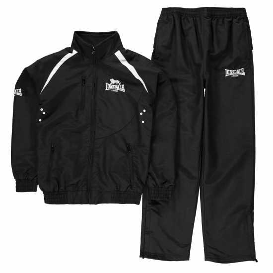 2516c6b34b3 Lonsdale Детски Спортен Екип Team Track Suit Junior Black/White Детски  спортни екипи