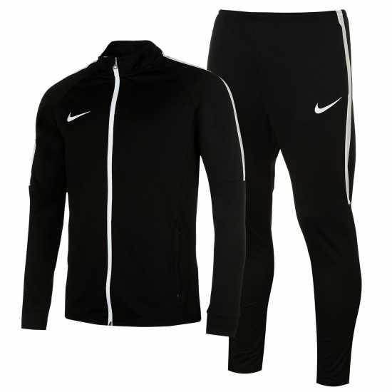 ab3bd30e541 Nike Мъжки Спортен Екип Academy Warm Up Tracksuit Mens Black/White Мъжки  спортни екипи в